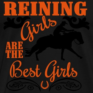 Reining Girls are the best Girls Tröjor - Premium-T-shirt herr