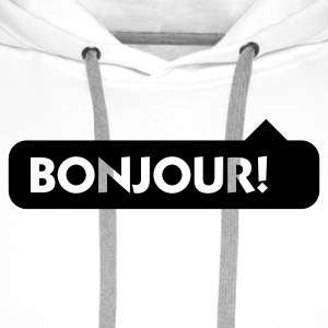 Bonjour! Long sleeve shirts - Men's Premium Hoodie