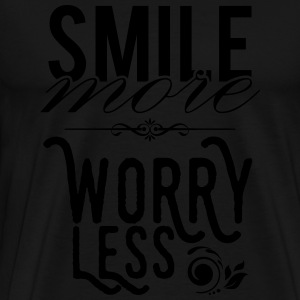 Smile more worry less Canotte - Maglietta Premium da uomo