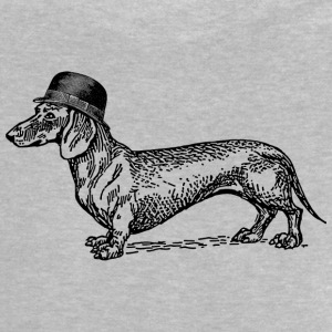 Heather grey Dog with hat Shirts - Baby T-Shirt