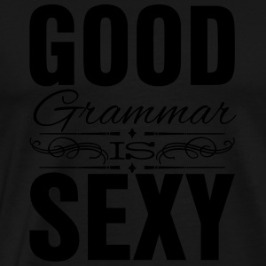 Good grammar is sexy Tanktoppar - Premium-T-shirt herr