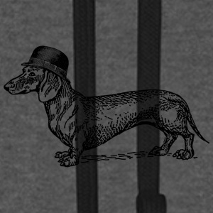 Graphite/black Dog with hat Caps & Hats - Unisex Baseball Hoodie
