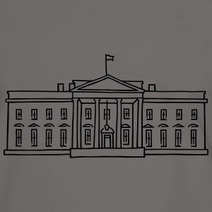 The White House in Washington Bags & Backpacks - Men's Ringer Shirt