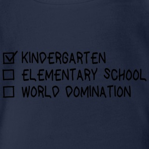 Kindergarten elementary school world domination Langarmshirts - Baby Bio-Kurzarm-Body