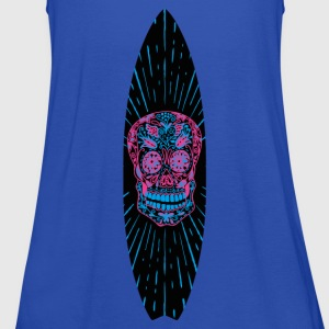 Surfboard Flower Skull - Top da donna della marca Bella