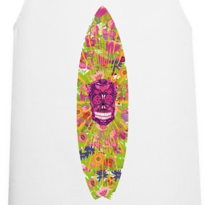 Surfboard Flower Skull - Cooking Apron