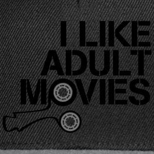 i like adult movies Camisetas - Gorra Snapback