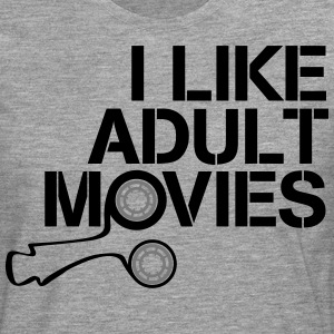 i like adult movies T-shirts - Långärmad premium-T-shirt herr