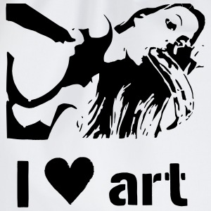 I love art stencil B/W T-Shirts - Turnbeutel