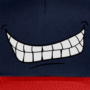 mouth teeth grin evil laugh T-Shirts - Snapback Cap