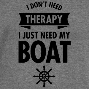 I Don't Need Therapy - I Just Need My Boat T-Shirts - Women's Boat Neck Long Sleeve Top
