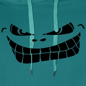 mal souriant smiley Tee shirts - Sweat-shirt à capuche Premium pour hommes