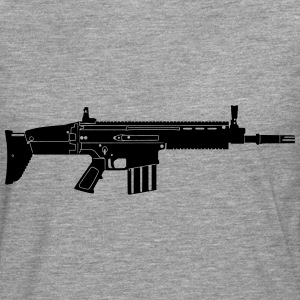 Scar Weapon Military Rifle T-skjorter - Premium langermet T-skjorte for menn