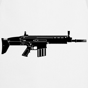 Scar Weapon Military Rifle Bluzy - Fartuch kuchenny