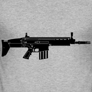 Scar Weapon Military Rifle Tröjor - Slim Fit T-shirt herr