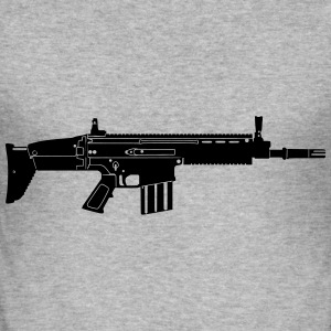 Scar Weapon Military Rifle Sudaderas - Camiseta ajustada hombre