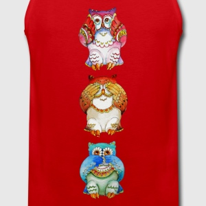 Three wise owls - Men's Premium Tank Top