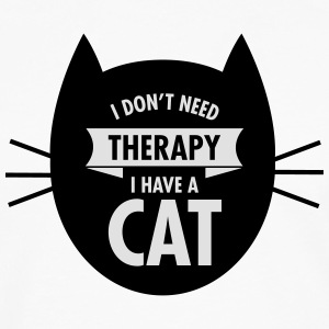 I Don't Need Therapy - I Have A Cat Tee shirts - T-shirt manches longues Premium Homme