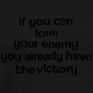 Love your enemy Manga larga - Camiseta premium hombre
