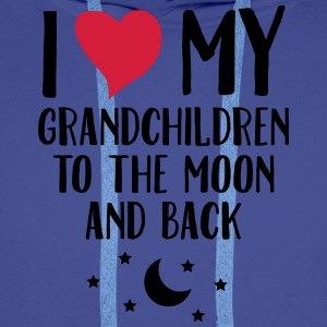 I Love My Grandchildren To The Moon And Back T-Shirts - Men's Premium Hoodie
