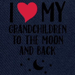 I Love My Grandchildren To The Moon And Back T-Shirts - Snapback Cap