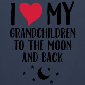 I Love My Grandchildren To The Moon And Back T-Shirts - Men's Premium Tank Top