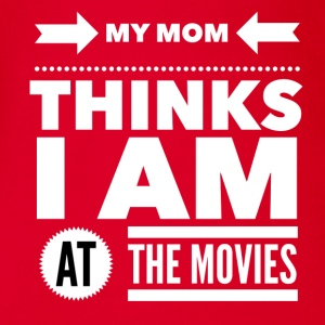My mom thinks i am at the movies T-Shirts - Baby Bio-Kurzarm-Body