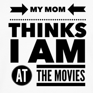My mom thinks i am at the movies Koszulki - Koszulka męska Premium z długim rękawem