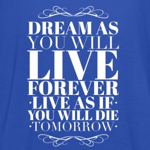 Live as you will die tomorrow T-shirts - Tanktopp dam från Bella
