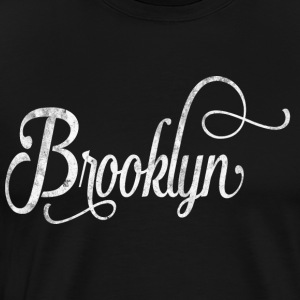 Brooklyn typographie vintage Manches longues - T-shirt Premium Homme