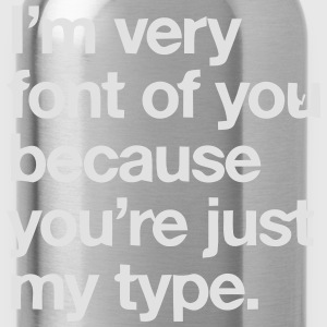 YOU'RE JOKE JUST MY TYPO - GRAPHIC DESIGN T-Shirts - Water Bottle