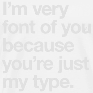 YOU'RE JOKE JUST MY TYPO - GRAPHIC DESIGN Toppar - Premium-T-shirt herr
