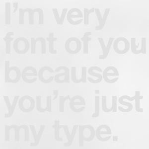 YOU'RE JOKE JUST MY TYPO - GRAPHIC DESIGN Felpe - Maglietta per neonato