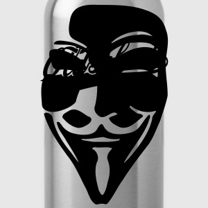 Oldschool - Swash / Guy Fawkes Mask for dark shirt - Trinkflasche