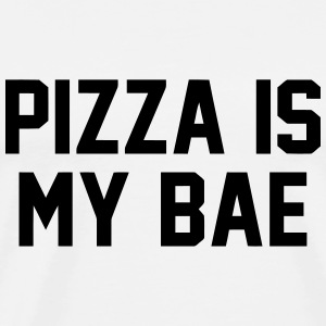 PIZZA IS MY BABE Long Sleeve Shirts - Men's Premium T-Shirt