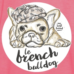 Burgundy/charcoal French Bulldog Hoodies & Sweatshirts - Women's Tank Top by Bella