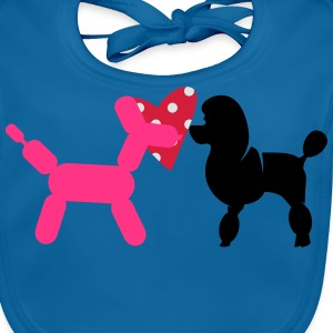 Poodle and Balloon Poodle Shirts - Baby Organic Bib