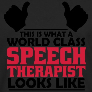 world class speech therapist T-Shirts - Men's Premium Longsleeve Shirt
