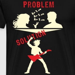 spreadmusic2015 Problem Solution ROCK Gitarre  Langarmshirts - Männer Premium T-Shirt