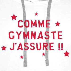 Gymnastique / Gym / Gymnaste / Fitness / GRS Tee shirts - Sweat-shirt à capuche Premium pour hommes