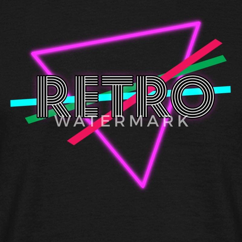 Cool 80s Retro Mens T-Shirt - Men's T-Shirt