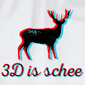 3D is schee - schwarz T-Shirts - Turnbeutel