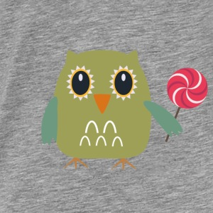 OWL with lollipop Hoodies & Sweatshirts - Men's Premium T-Shirt