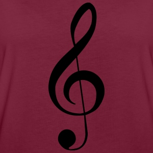 Clef Music Notes Sweat-shirts - T-shirt oversize Femme