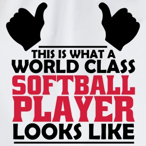 world class softball player T-Shirts - Drawstring Bag