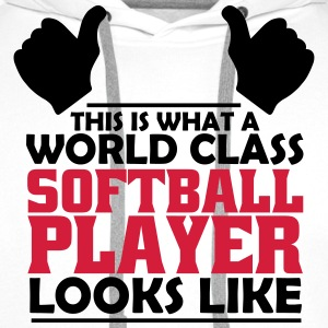 world class softball player T-Shirts - Men's Premium Hoodie