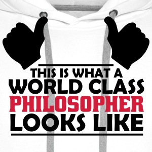world class philosopher T-Shirts - Men's Premium Hoodie