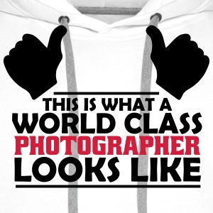 world class photographer T-Shirts - Men's Premium Hoodie