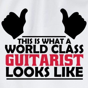 world class guitarist T-Shirts - Drawstring Bag