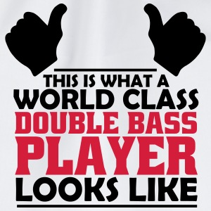 world class double bass player T-Shirts - Drawstring Bag
